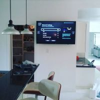 TV Mounting in Kitchen