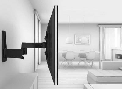 full motion tv mount on wall