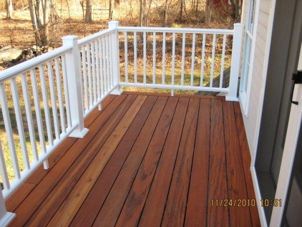 Tiger wood decking Azek rails Portland CT
