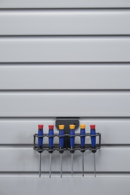 slatwall screwdriver storage