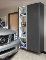 Wood garage cabinets