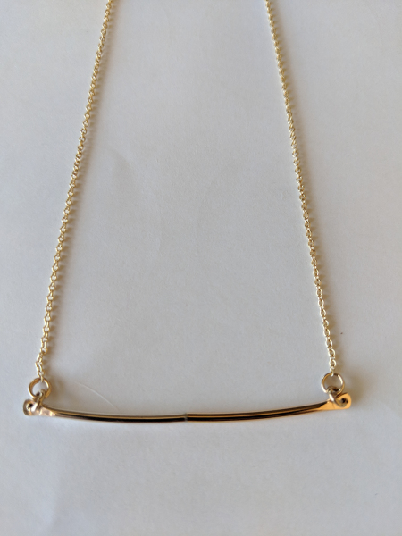 Gold and Silver Bar Necklace