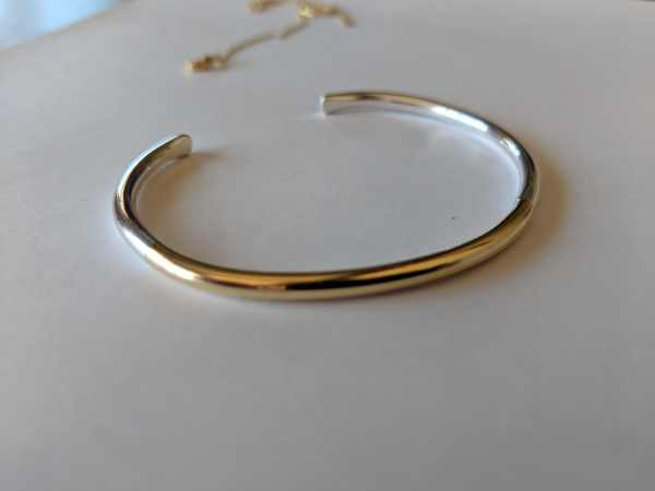 Gold and Silver cuff braclet