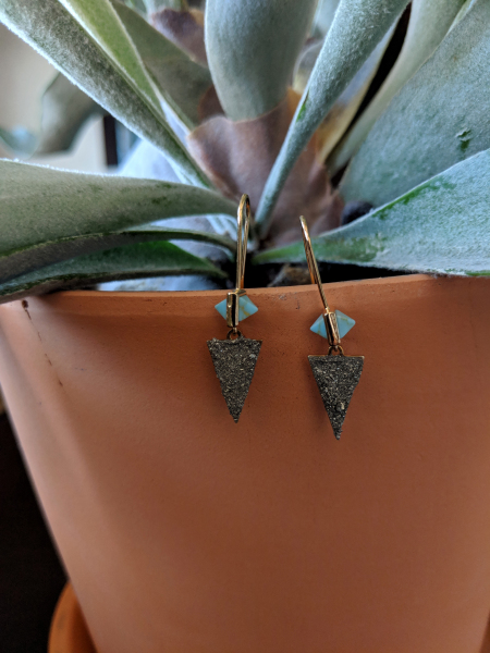 Turquoise and Pyrite earrings