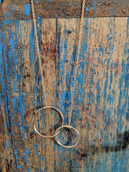 Gold and Silver Together necklace