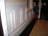 MILLWORK AND WAINSCOT IN FOYER