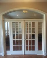CUSTOM FRENCH DOORS WITH ARCHED TRANSOM AND SIDE LITES