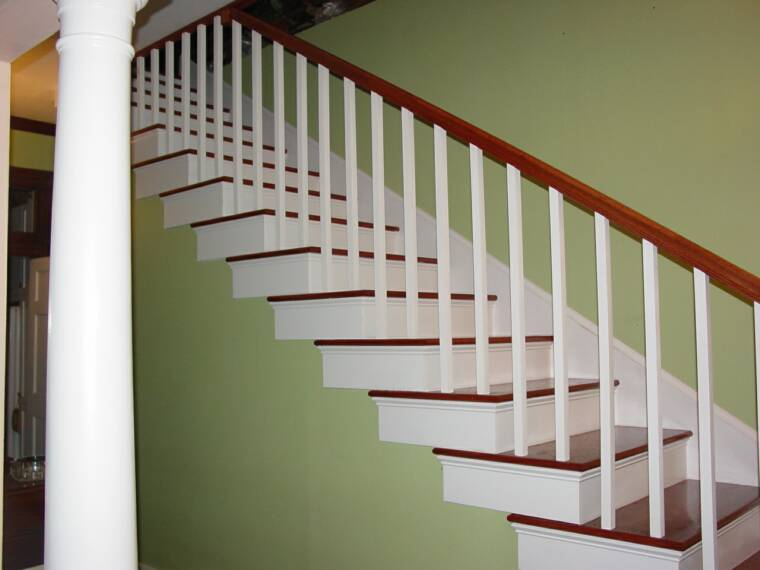 RE-BUILT STAIRCASE THE WAY IT WAS BUILT IN 1908 IN A HOUSTON HEIGHTS RESIDENCE