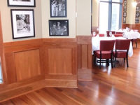RECESSED PANEL WAINSCOT IN A SMALL B&B