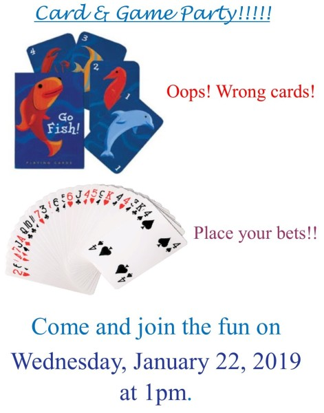 Card & Game Party - 1-22-20