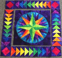 Holly Casey's Geese Around the Compass quilt