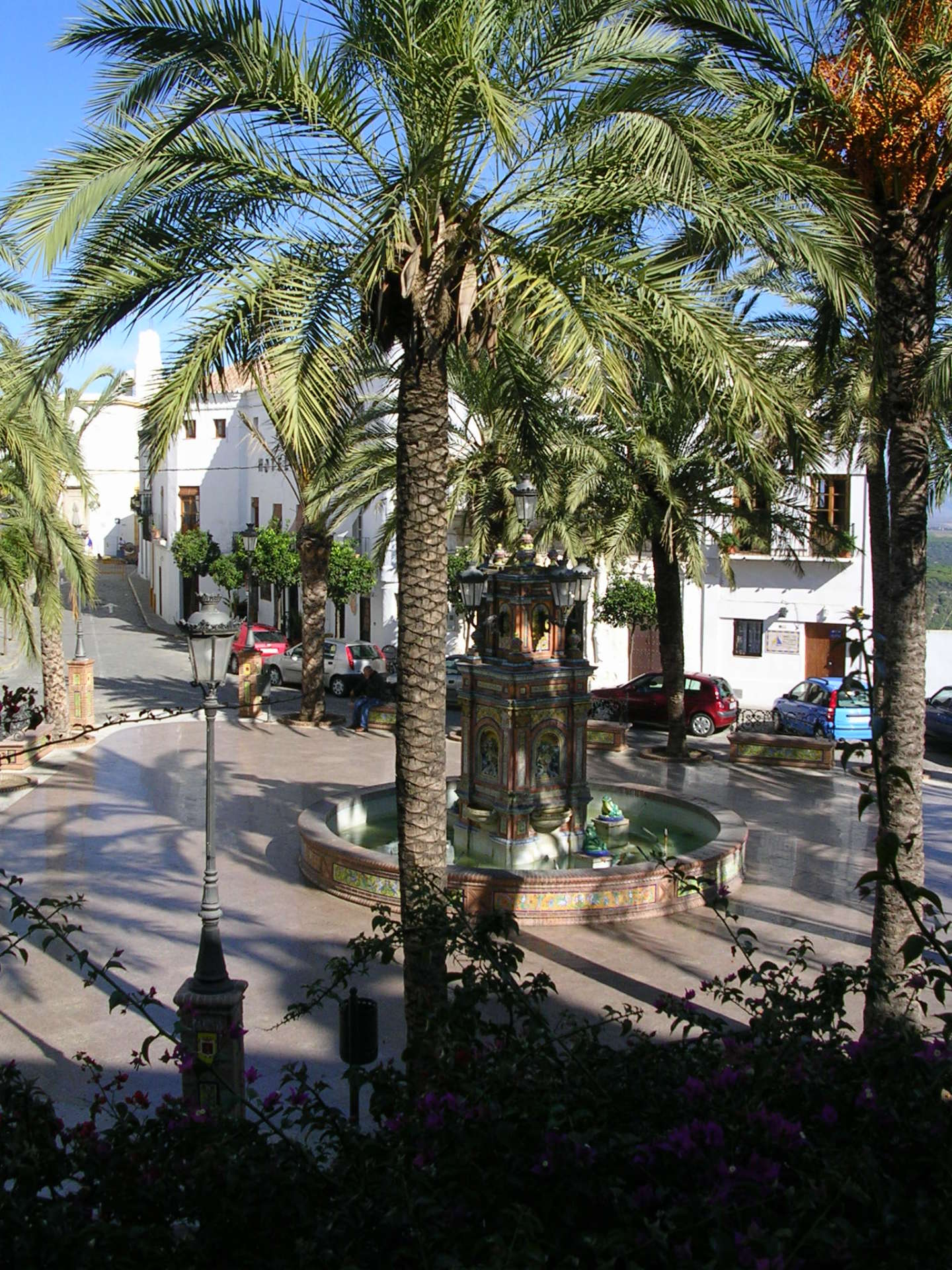 Plaza Espana in Vejer