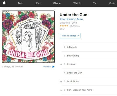 CD BABY and ITUNES has Under The Gun
