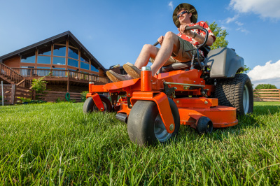 Get a low rate on all lawn mowing with our Precision Mow.