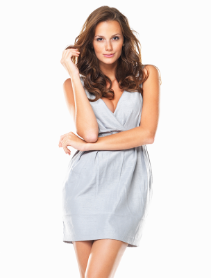 CUT SLEEVELESS MINI DRESS