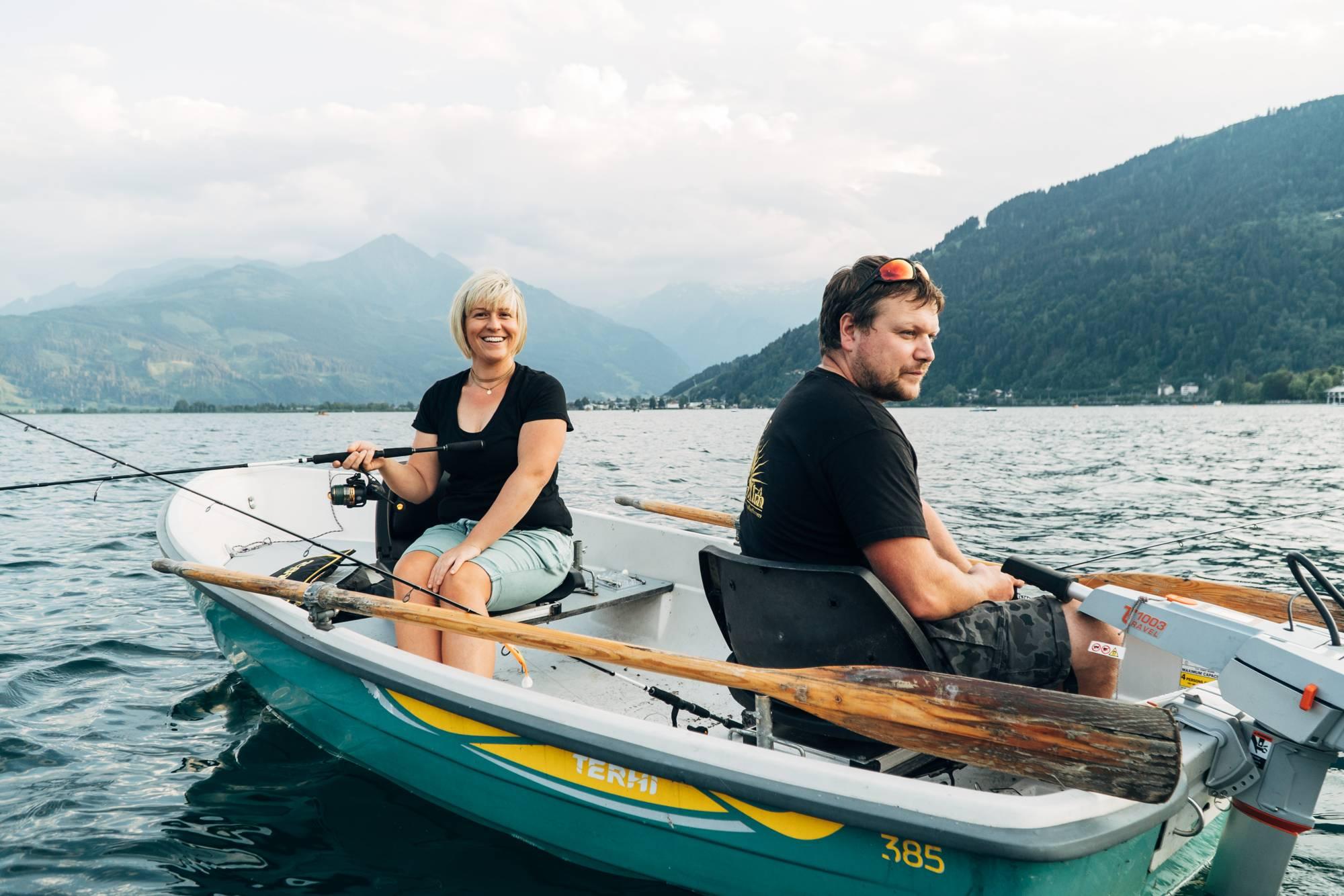 Fishing together on Lake Zell