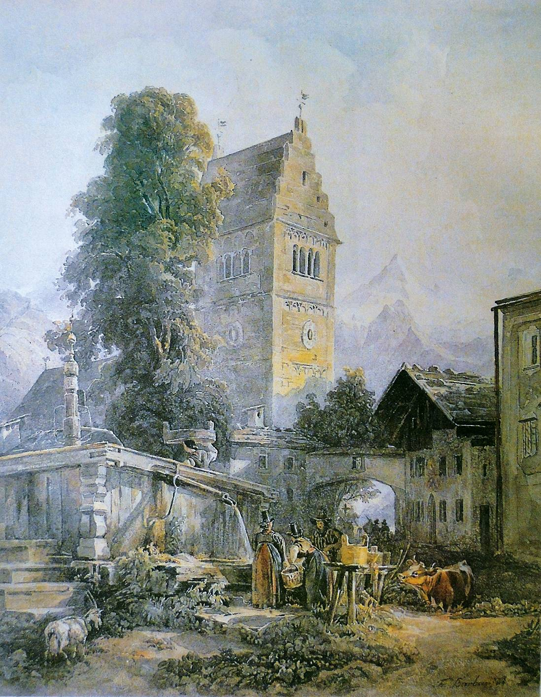 The market square in the early 19th century