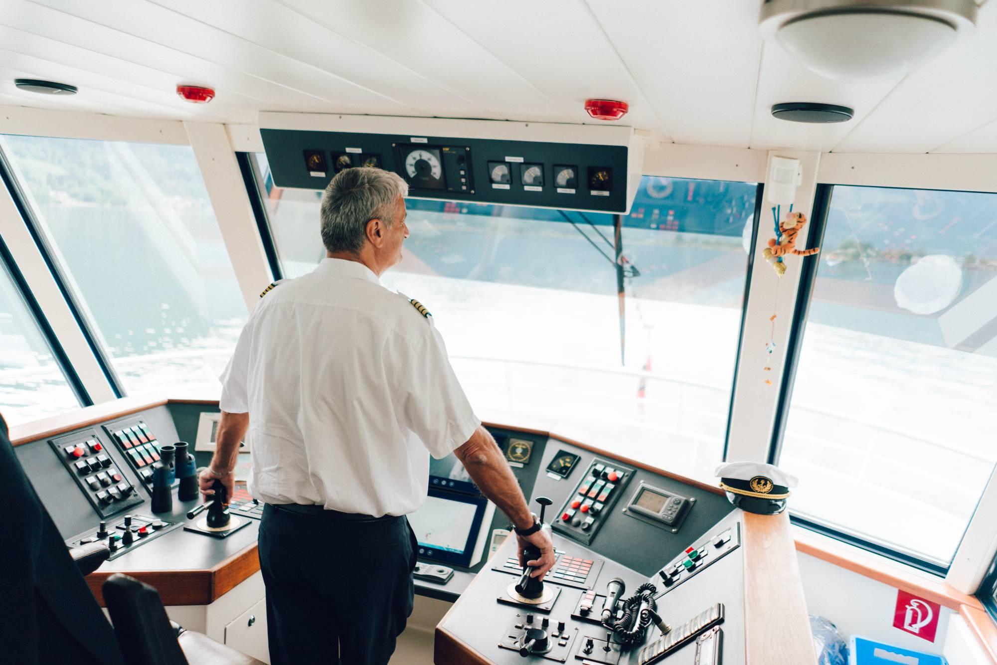 Captain Fürstauer at his workingplace
