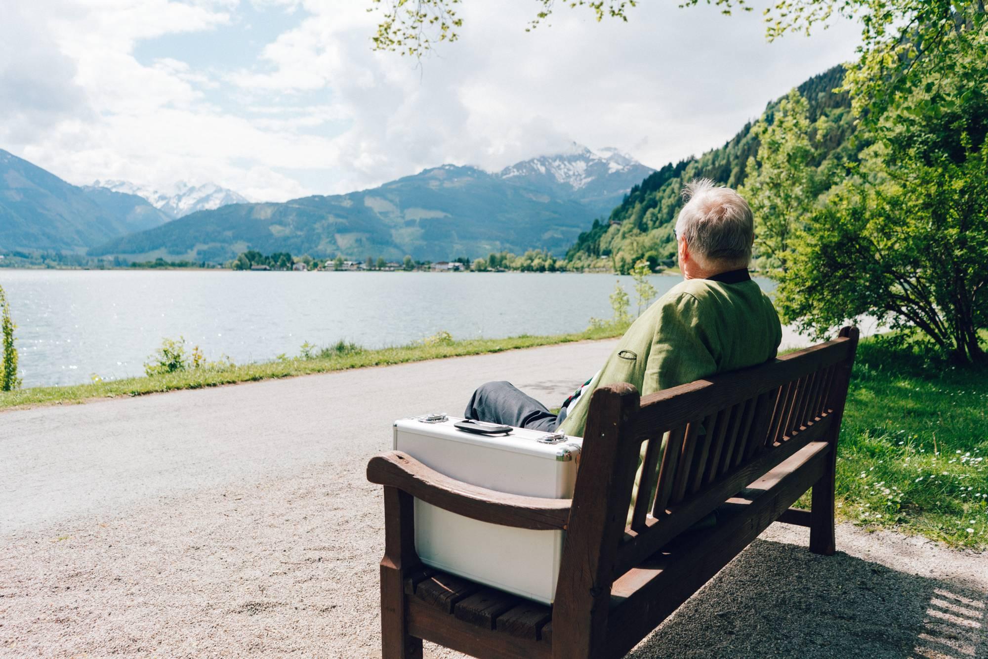 Mr. Cordt at the Elisabethpark