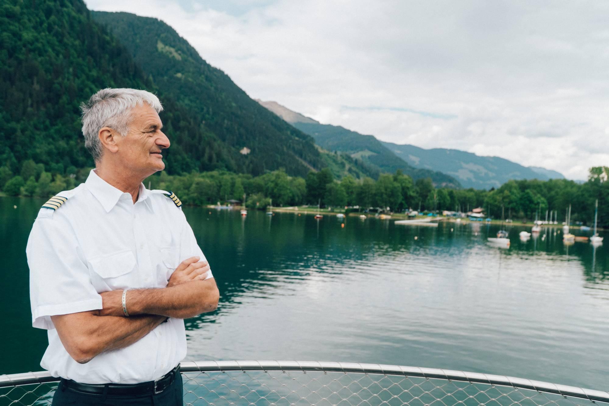 Captain Toni Fürstauer has everything in view