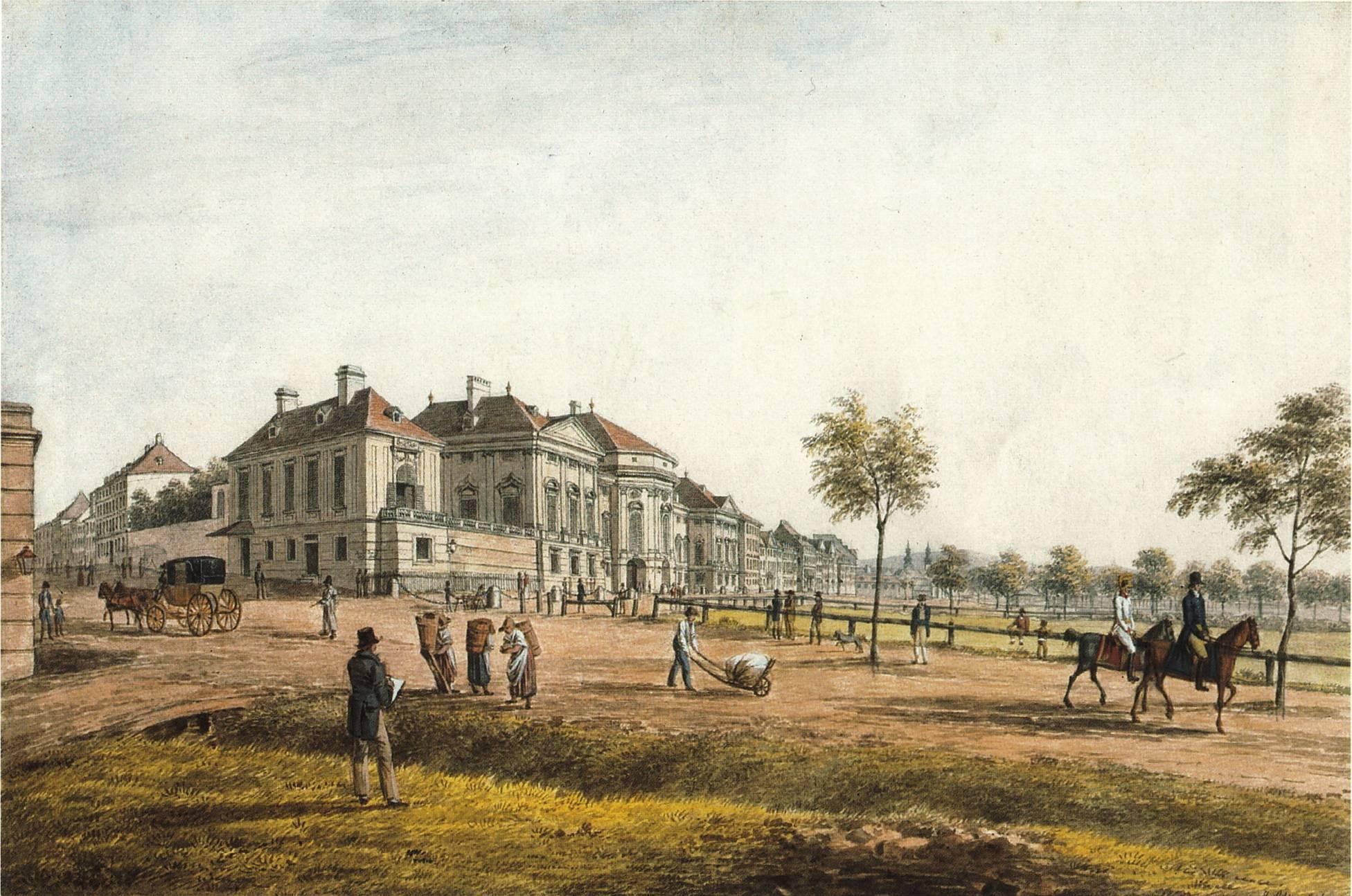 Josefstädter Glacis and Palais Auersperg, 1814
