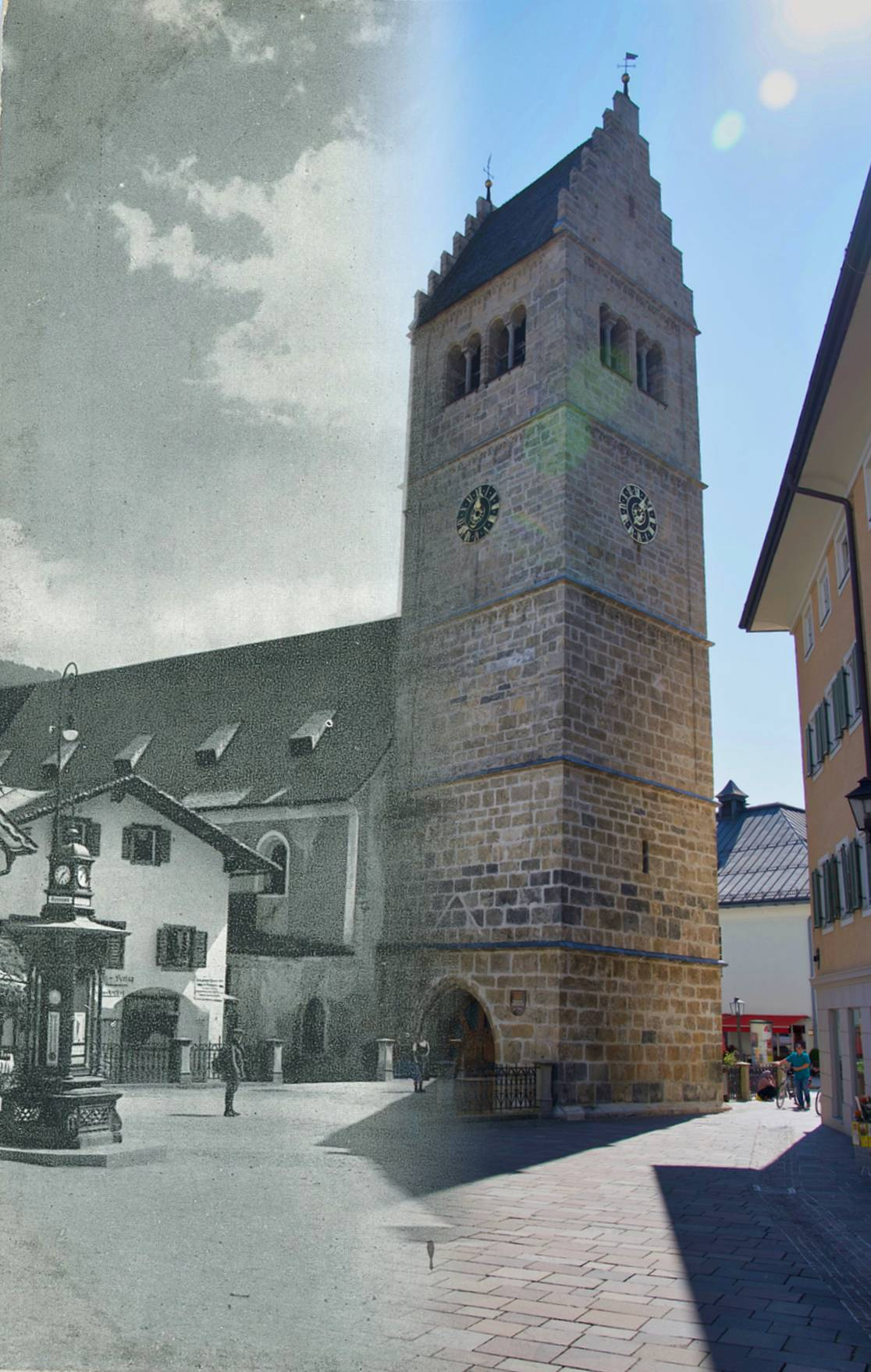 the parish church once and now