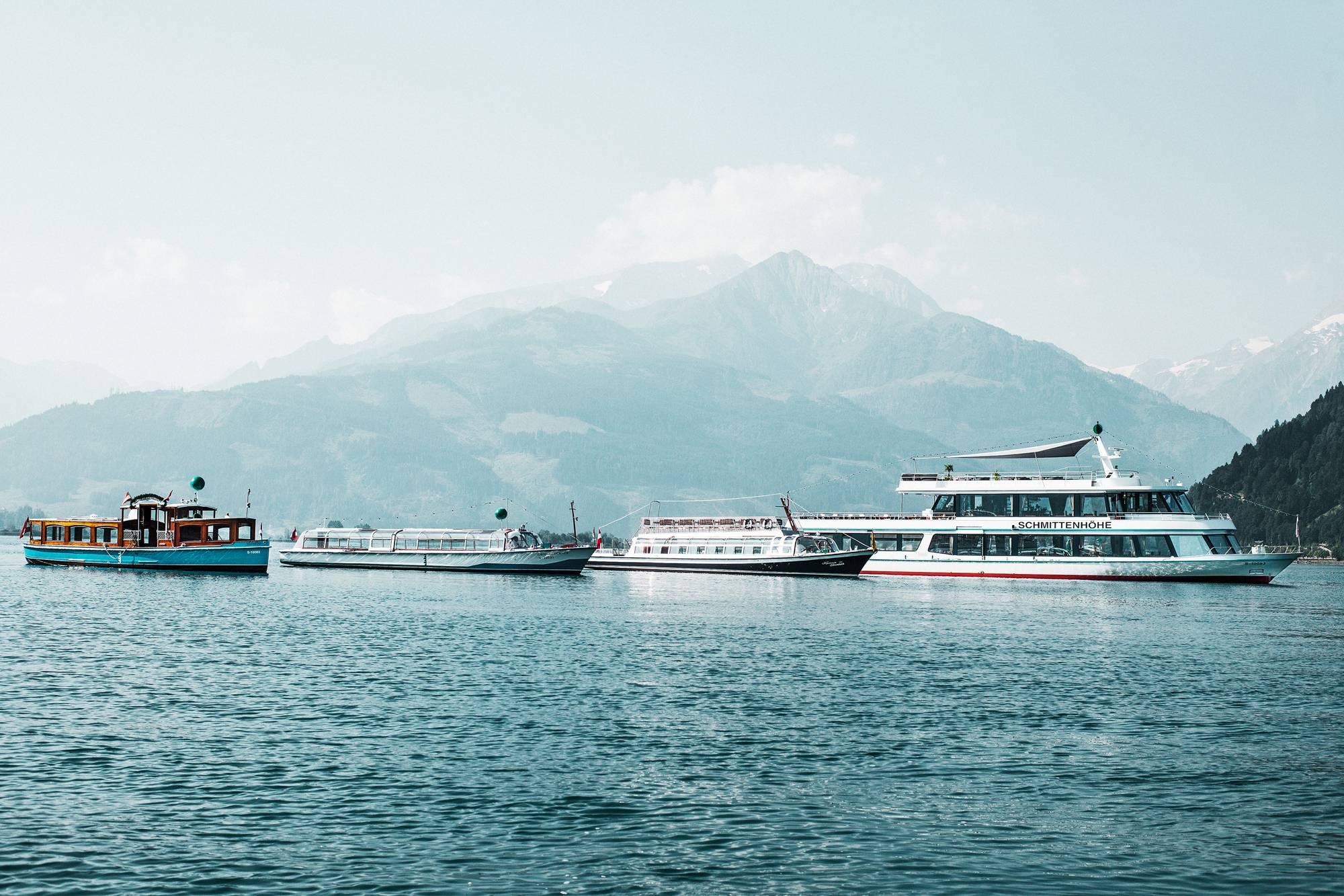 The fleet at lake Zell