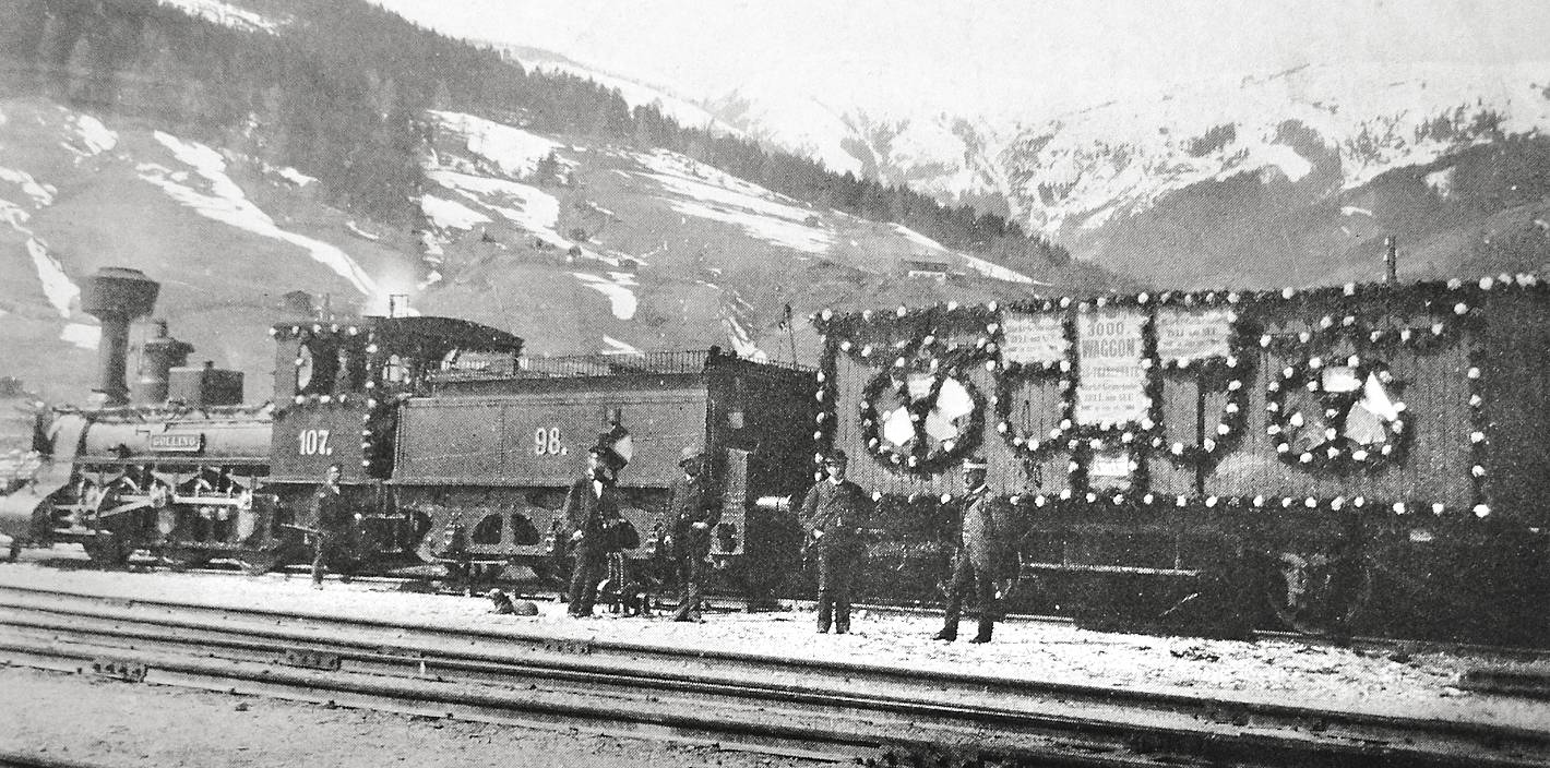 The railway in Zell am See
