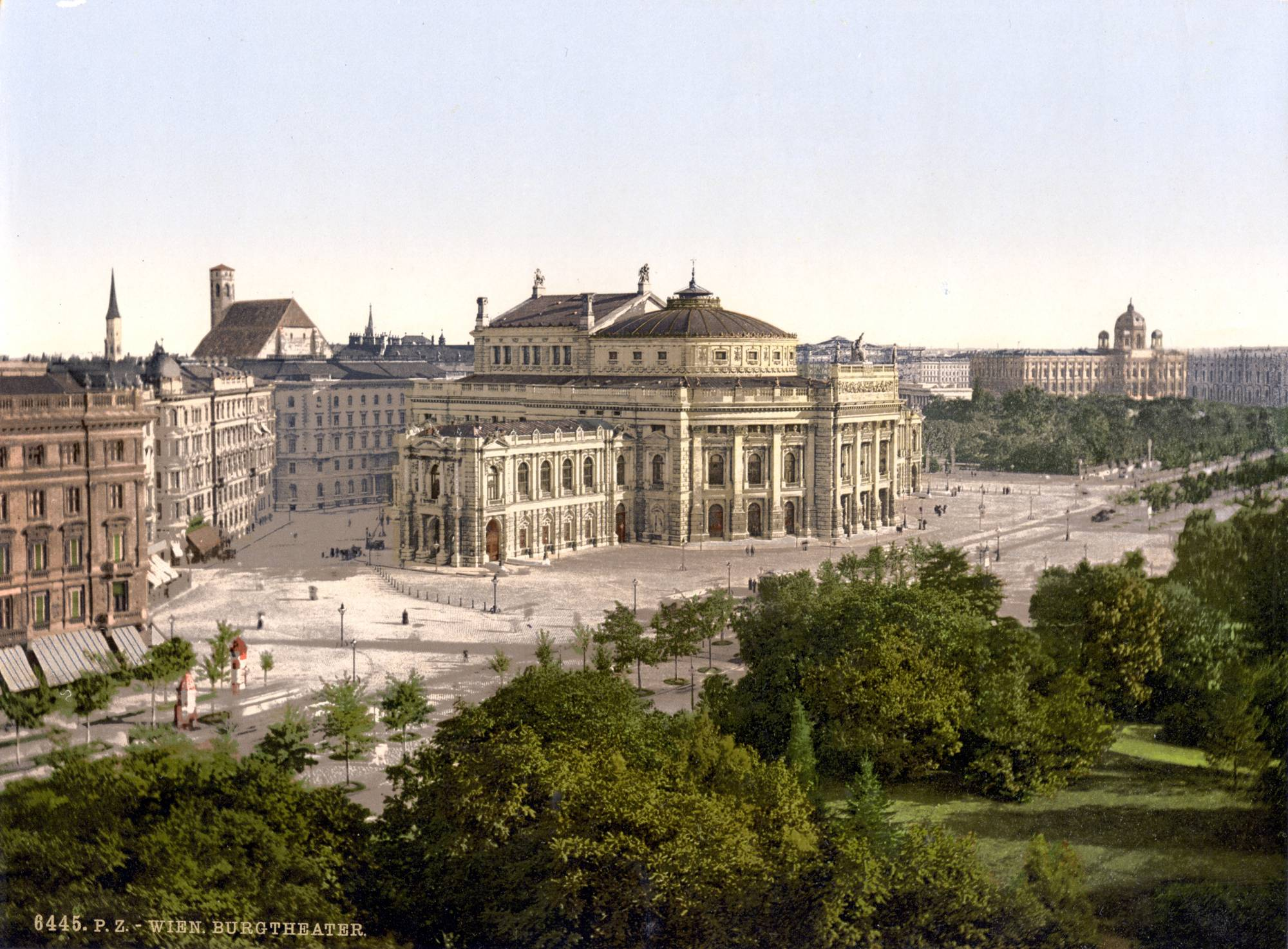 The Burgtheater around 1900