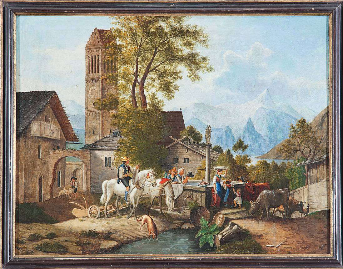 Zell am See market square 1845