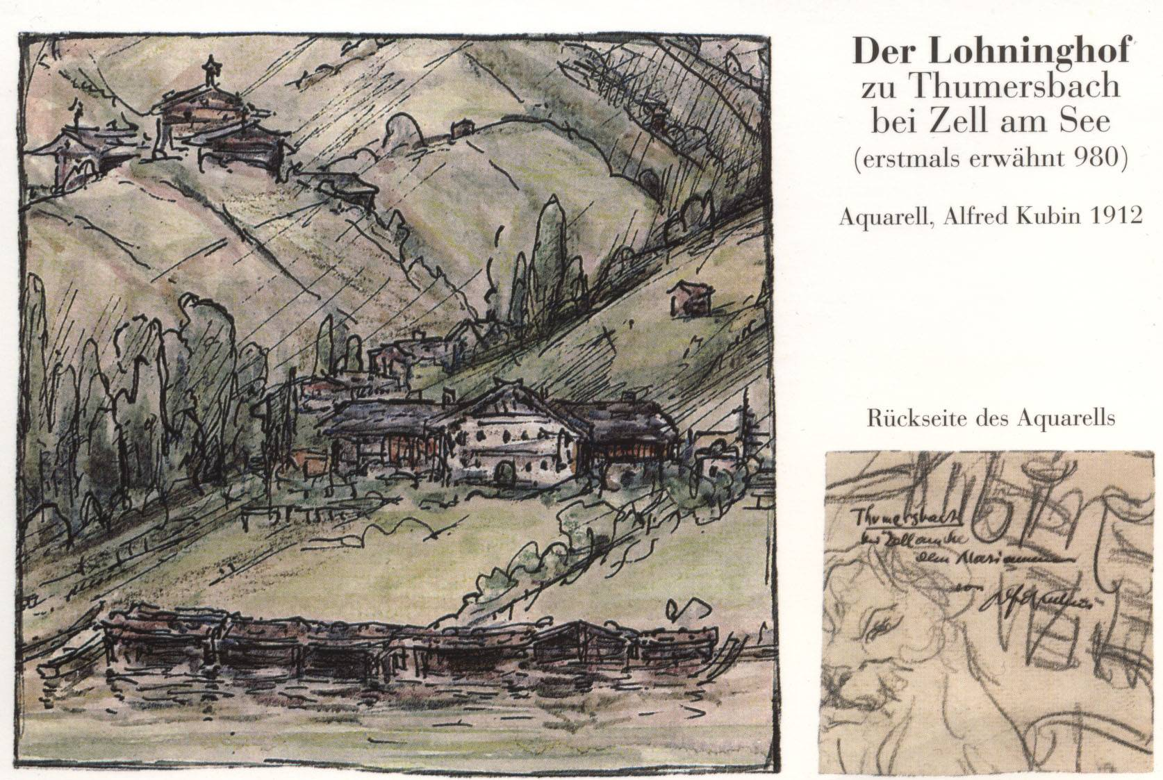 The Lohninghof at Thumersbach  Zell am See of Alfred Kubin