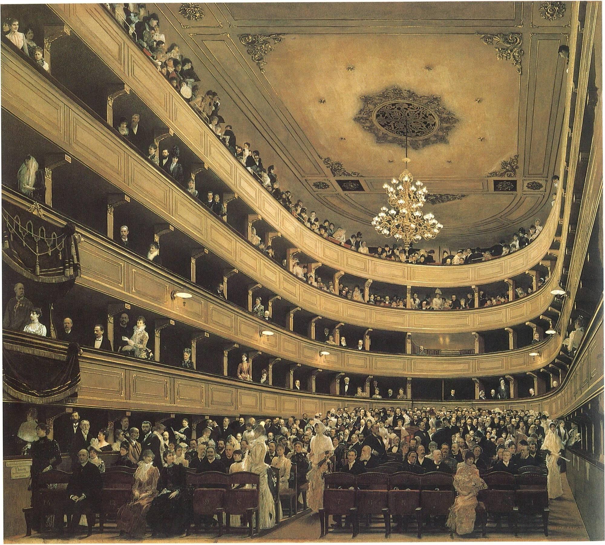 The Burgtheater by Gustav Klimt