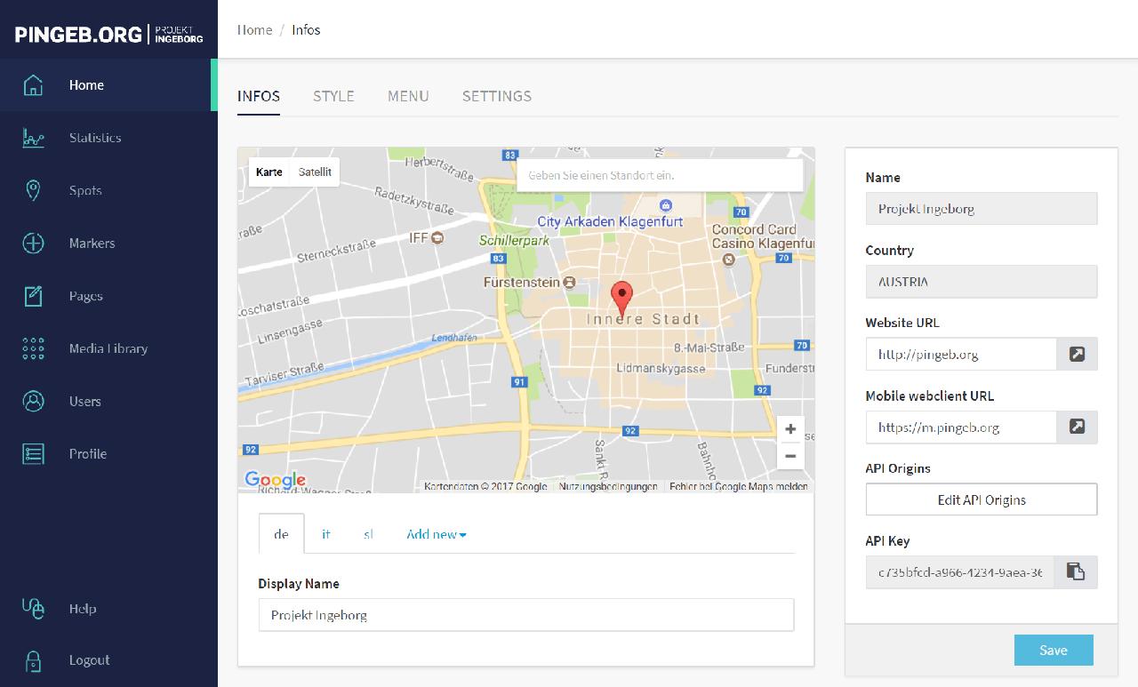 Screenshot des brandneuen Designs von xamoom