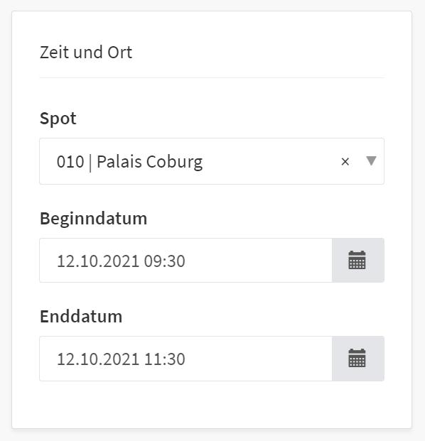 """Die Erweiterung für """"Zeit und Ort"""""""