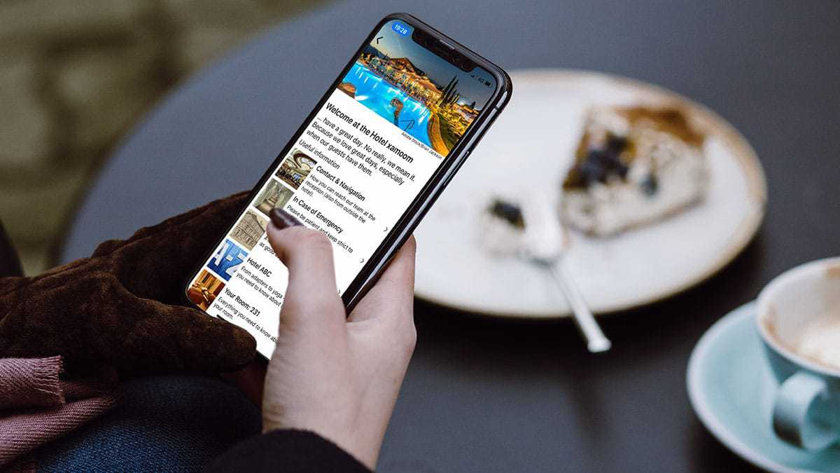 Browsing the app while having breakfast.