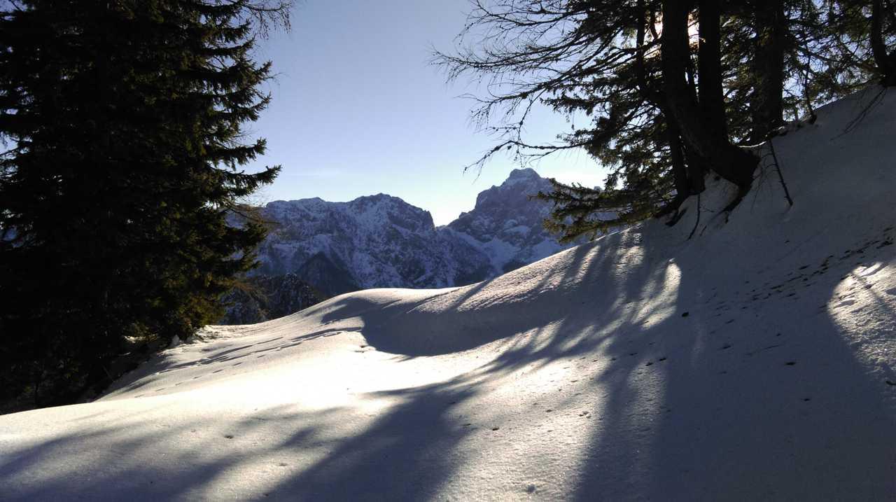 Ein winterlicher Blick zur slowenischen Ojstrica
