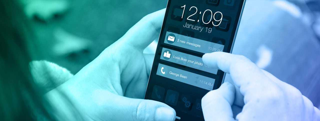 Push Benachrichtigungen werden am Handy angezeigt