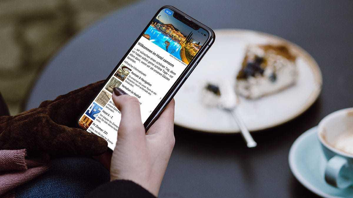 App wird beim Frühstück genutzt