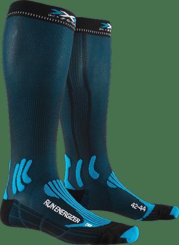X-SOCKS® RUN ENERGIZER - unisex (Teal Blue / Opal Black, 42-44).