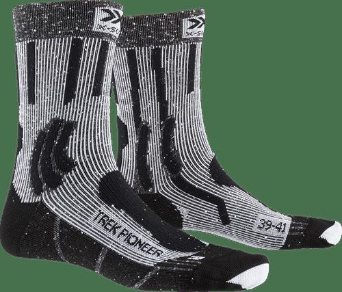 X-Socks Kinder Trek X Cotton JUNIOR Socks trekkingsocken wandersocken Str/ümpfe Stone Grey Melange//x-Orange