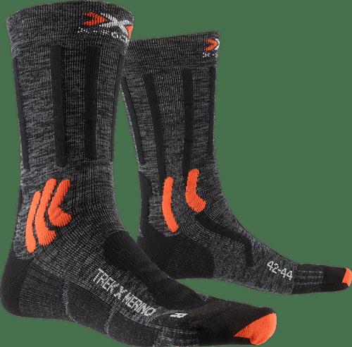 Stone Grey Melange//x-Orange X-Socks Kinder Trek X Cotton JUNIOR Socks trekkingsocken wandersocken Str/ümpfe