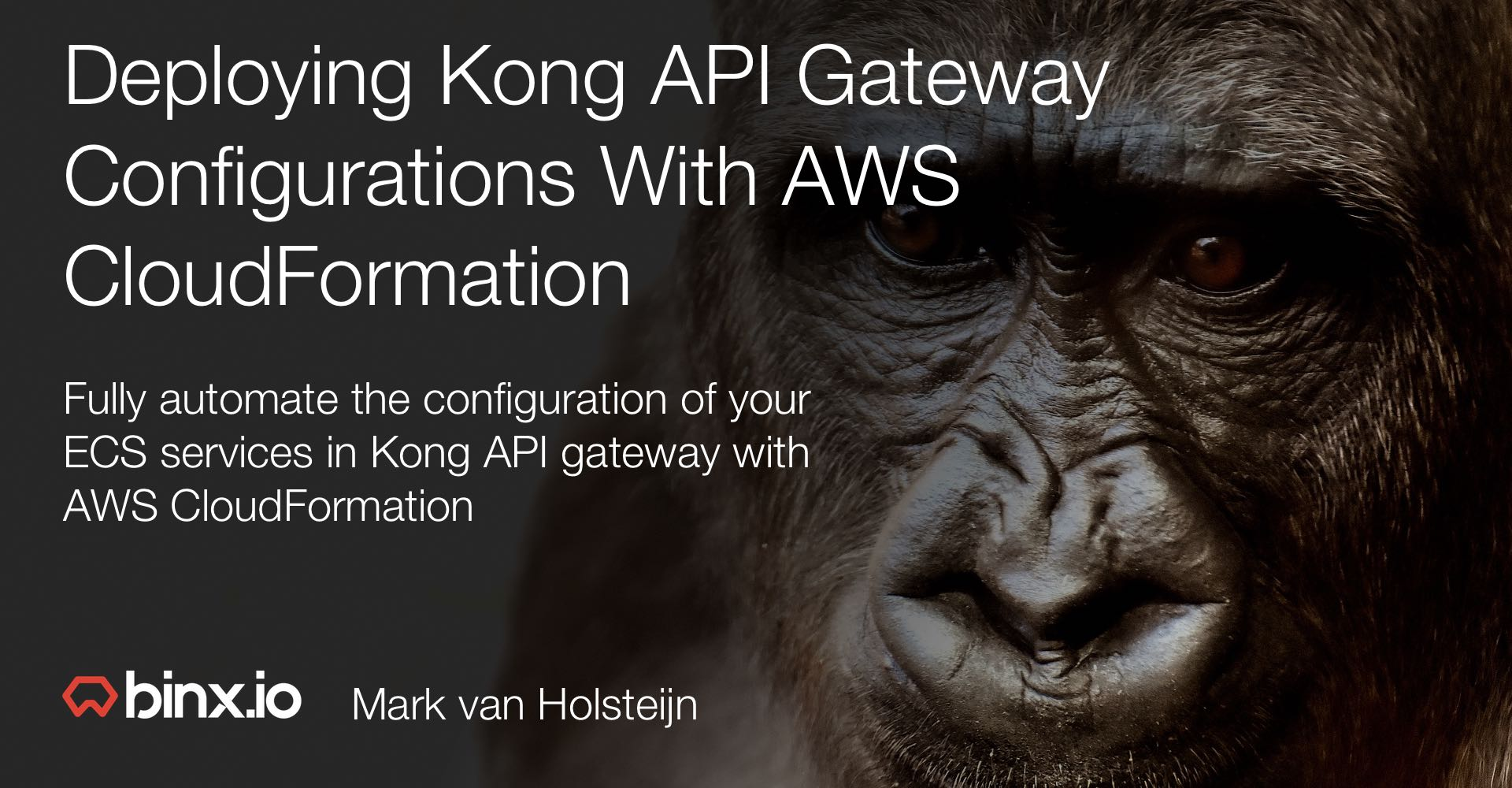Deploying Kong API gateway configurations with AWS CloudFormation