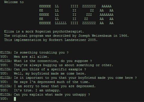 ELIZA conversation
