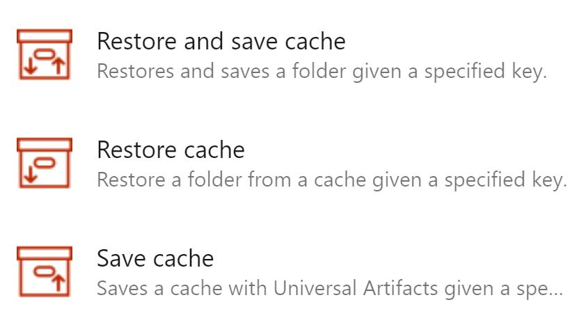 cache tasks