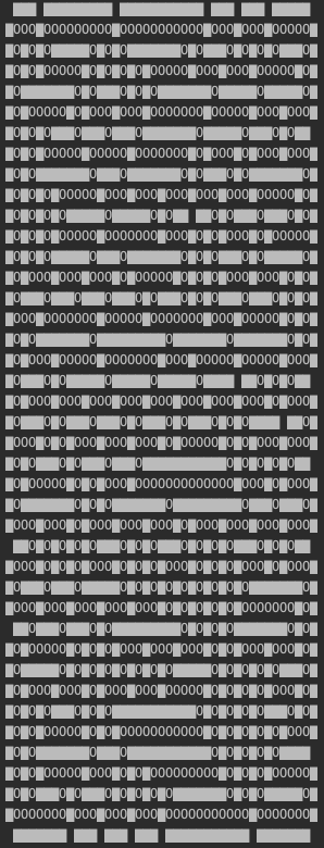 curses output of Advent of Code puzzle day 16 part 2. Maze filled with oxygen.