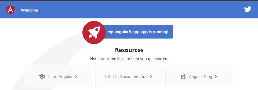 Angular application run locally