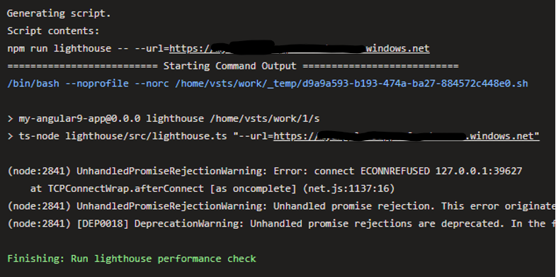 Pipeline error when the headless option is not specified