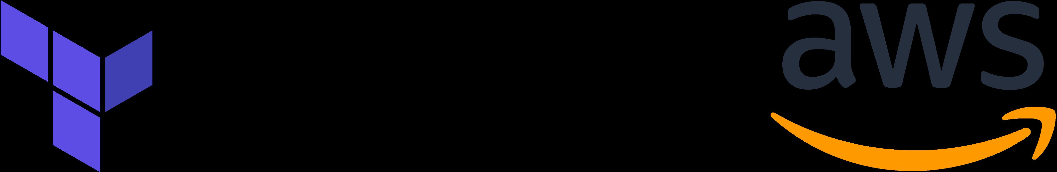HashiCorp Terraform and AWS logos