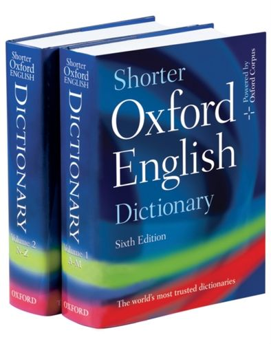 9780199206872 image Shorter Oxford English Dictionary