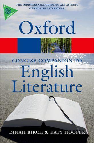 9780199608218 image Concise Oxford Companion to English Literature